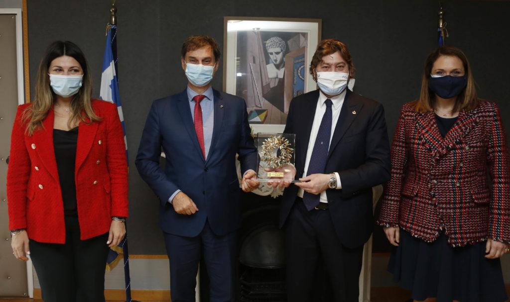 Συνάντηση του Υπουργού Τουρισμού κ. Χάρη Θεοχάρη με τον Υπουργό Τουρισμού του Σαν Μαρίνο κ. Federico Pedini Amati στην Αθήνα