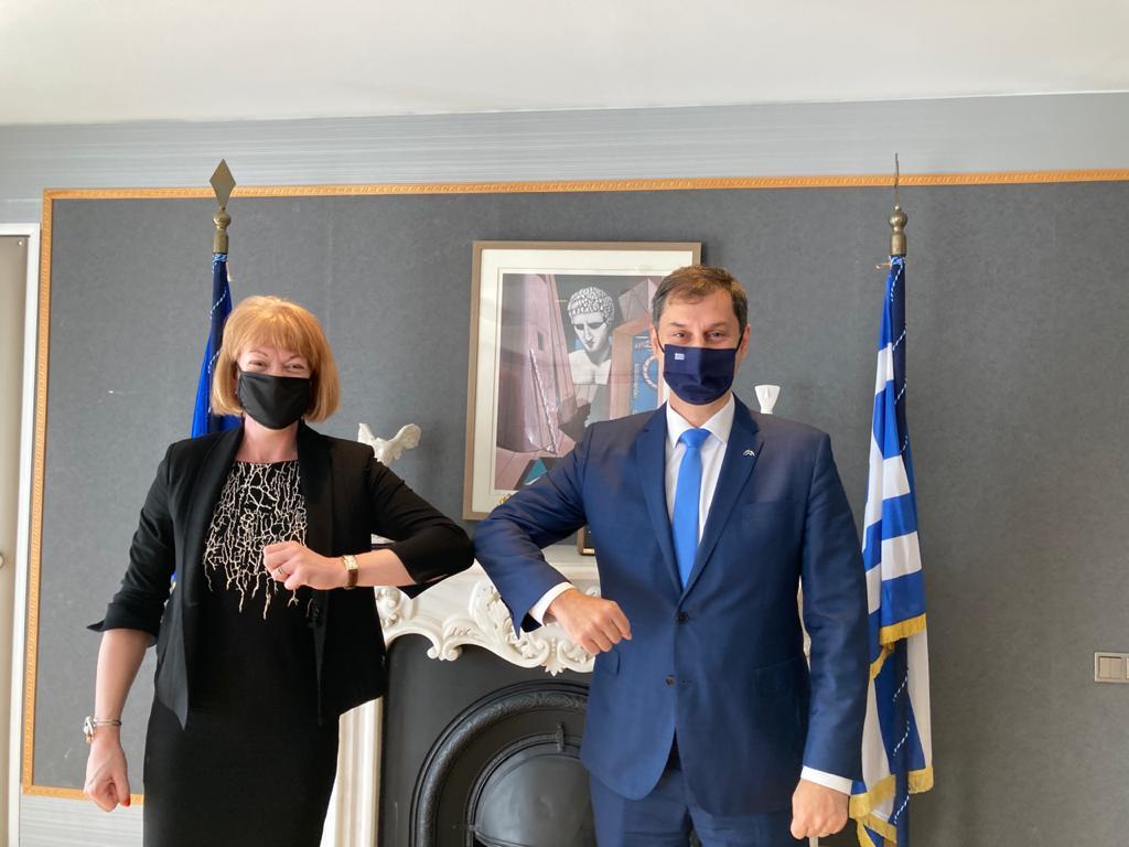 Συνάντηση του Υπουργού Τουρισμού κ. Χάρη Θεοχάρη με την Υφυπουργό Εξωτερικών του Ηνωμένου Βασιλείου, αρμόδια για Ευρωπαϊκή Γειτονία και Αμερική, κυρία Wendy Morton