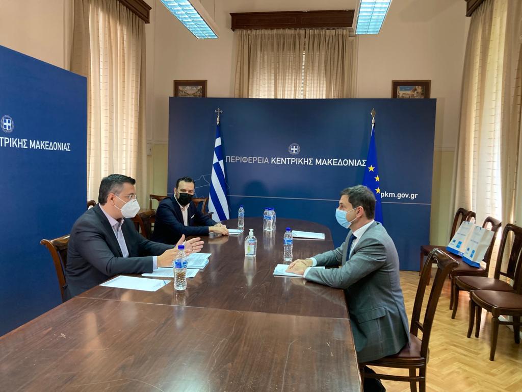 Στη Θεσσαλονίκη ο Υπουργός Τουρισμού Χάρης Θεοχάρης.